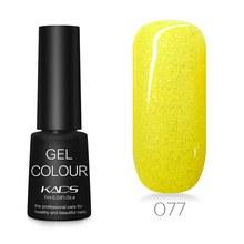 KADS 7ML Nail Polish Glue Lacquer Base Top Coat UV LED Lamp Soak Off Nail Art Manicure Semi Permanent Pure Color Healthy(China)