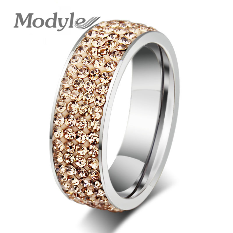 Bluna Brand Ring Jewelry Cubic Zirconia 18K Gold/Platinum Plated Austrian Crystal Stainless Steel Fashion Finger - Modyle store