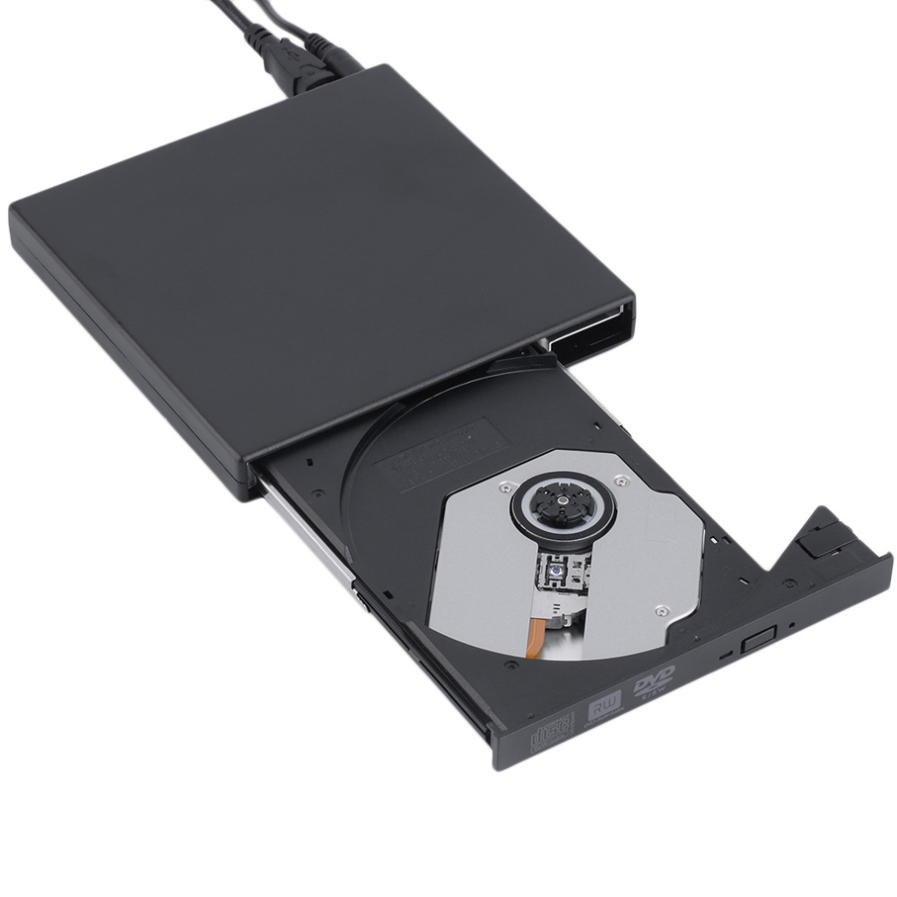 New black USB 2.0 External CD+-RW DVD+-RW DVD-RAM Burner Drive Writer For Laptop PC Wholesale(China (Mainland))