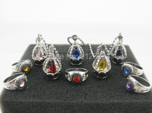 Cosplay Puella Magi Madoka Magica Soul Gem Necklace+Ring 5 Colors/1boxes - Online Store 912322 store