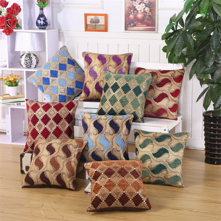 1 Pc New Cushion Cover Polyester Fiber European Pillow Case Car Sofa Chair Seat Cushion Decorative