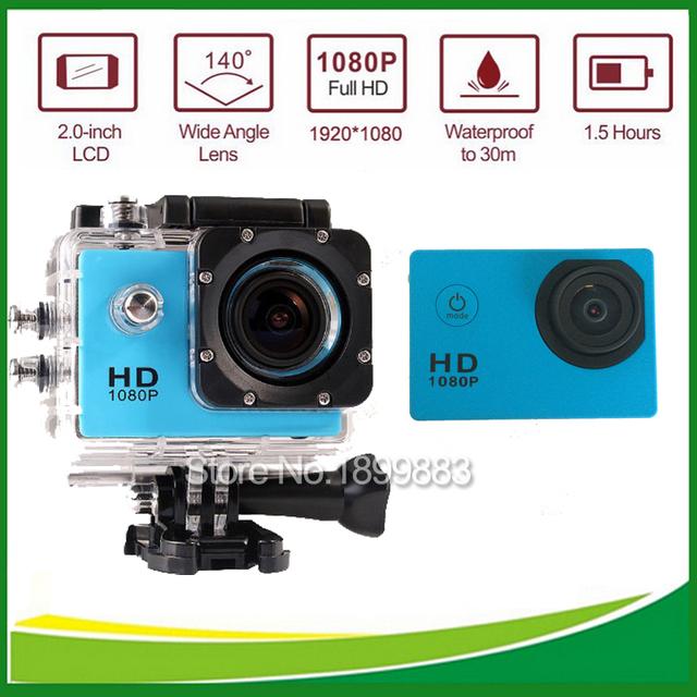 Mini cámara Digital de acción D9 videocámaras 2 pulgadas Waterproof Sport Cam 1080 P Full HD casco a prueba de agua cámaras de buceo 30 M DV deporte