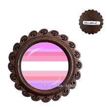 Mutilayered Kleurrijke Homo Lesbisch LGBT Hout Broches Pins Regenboog Vlag Bi Pride Kragen Pins Sieraden Nieuwe Collectie(China)