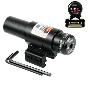 Компактный регулируемый Красный лазер прицел с креплением для 20мм 11мм Пикатинни & Рельсы для охота и страйкбол