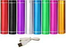 Mini 2600mah External Battery Pack Compact Lipstick Size USB Portable Power Bank Charger foriPhone5 6 Mobile Phone IPAD Camera