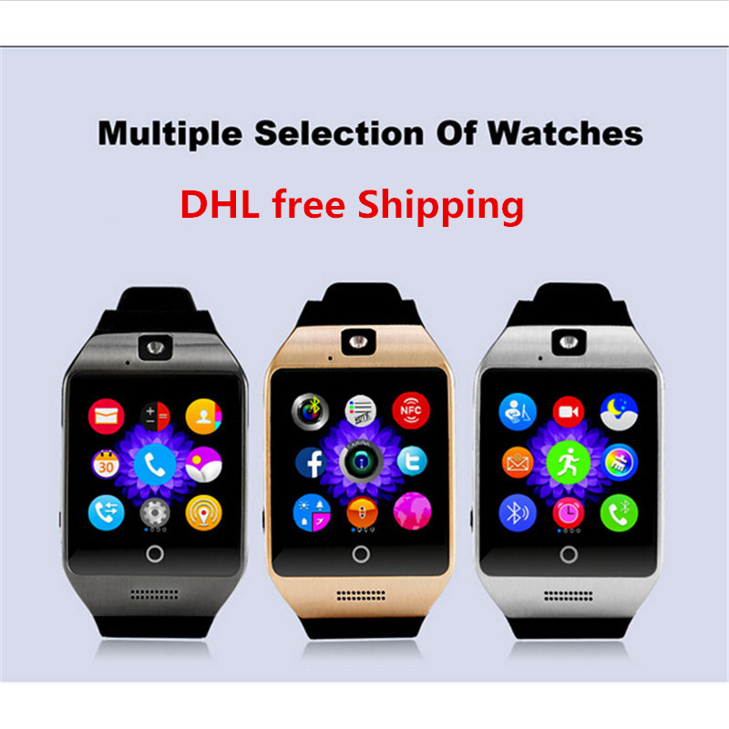 Hot sales Q18s Smart watch clock Support Bluetooth NFC SIM GSM Video camera smartwatch For Android cell phone PK GT08 L58 dz09(China (Mainland))