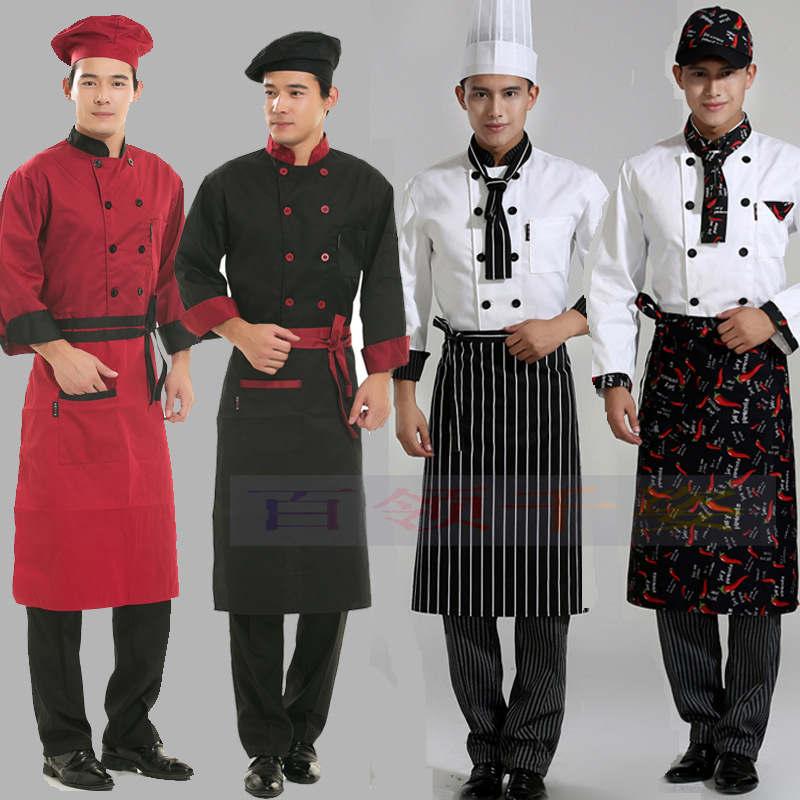 Korean black apron chef body apron Hotel Restaurant Kitchen Restaurant Waiter work apron(China (Mainland))