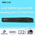 WANLIN 4CH CCTV 1080N AHD M Hybrid DVR NVR Register Digital Video Recorder P2P Cloud Support