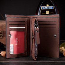 High quality Leather men s Wallets Wholesale purse leather SHORT leather wallets Best gift Free Shipping