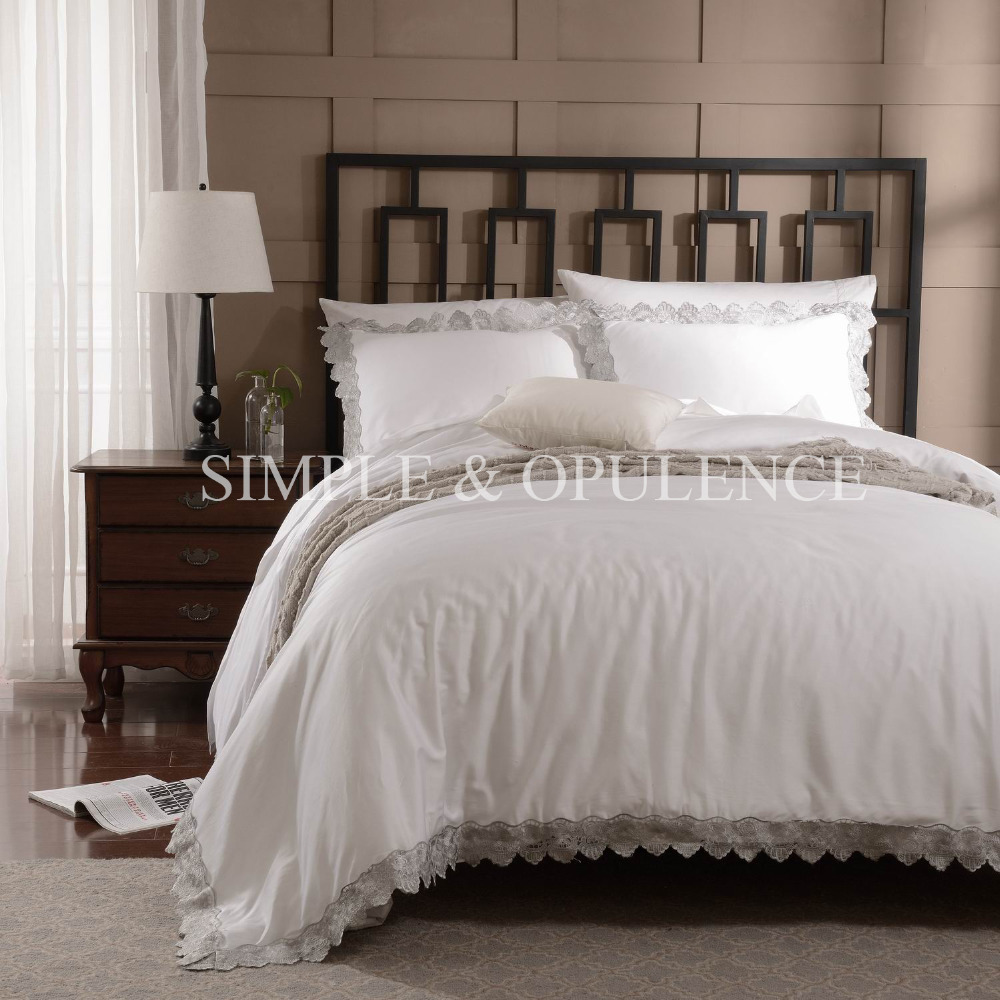 100 Cotton 400tc Luxury Duvet Cover Set Royal Embroidered