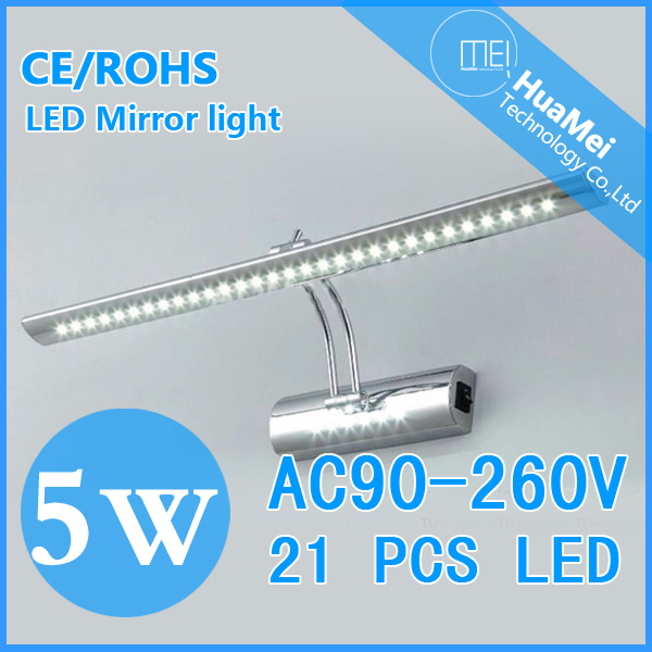 5W LED Barthroom Wall Lamps AC85~265V Bedroom Light Cool Warm White Mirror - Shenzhen huamei's store