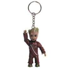Bonito Do Bebê Grunhido Homem Árvore Guardiões da Galáxia Vol 2 Homem Figuras Brinquedos Saco Chaveiro Pingentes Acessórios Bonecas Brinquedos Infantis presente(China)
