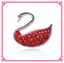 arrive 1 crystal swan snap buttons charms metal button fit diy bracelet jewelry - Cara's Shop For DIY Jewelry store