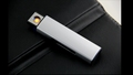 4 Color USB Sided ignition charging Mini slim windproof lighter metal electronic cigarette lighter tobacco smoking