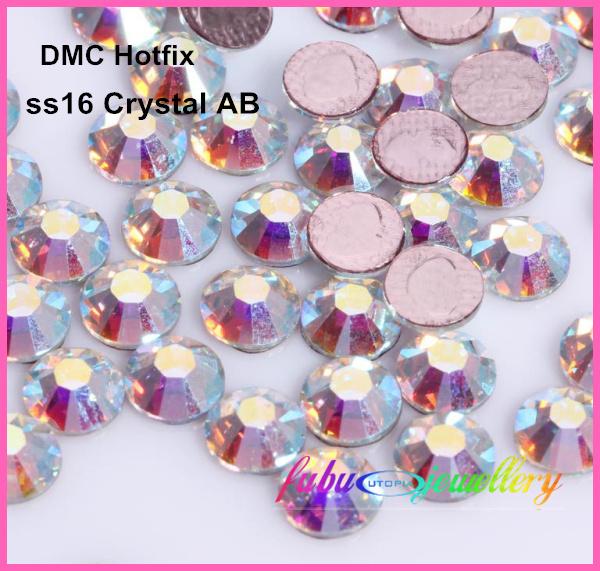 Гаджет  Free Shipping! 1440pcs/Lot, ss16 (3.8-4.0mm) High Quality DMC Crystal AB Iron On Rhinestones / Hot fix Rhinestones None Дом и Сад