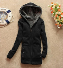 Casual Women's Hoodie Coat Thicken Outerwear Jacket 3 Colors Retail & Wholesale  W4117(China (Mainland))