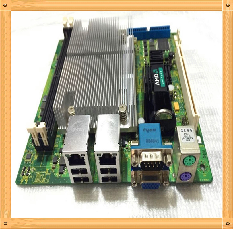 Free shipping Used MSI AM2 MINI 17 * 17 mini motherboard 690G + AMD 4850 dual-core CPU IPC HD advertising machine(China (Mainland))