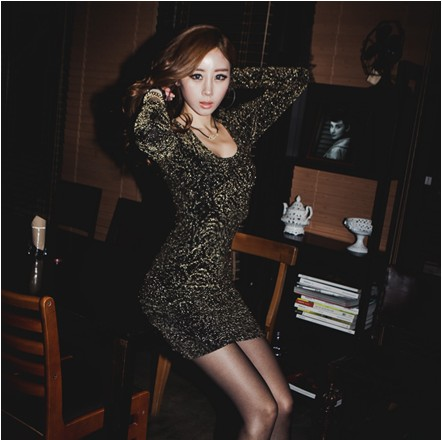 2014 spring basic slim sexy queen of the one-piece dress rose dress charming(China (Mainland))