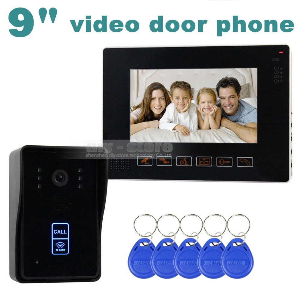9 Inch Compatible CCTV Video Door Phone Intercom Doorbell Home Security Touch Camera Monitor 125KHz RFID Keyfobs SY901MJID11(China (Mainland))