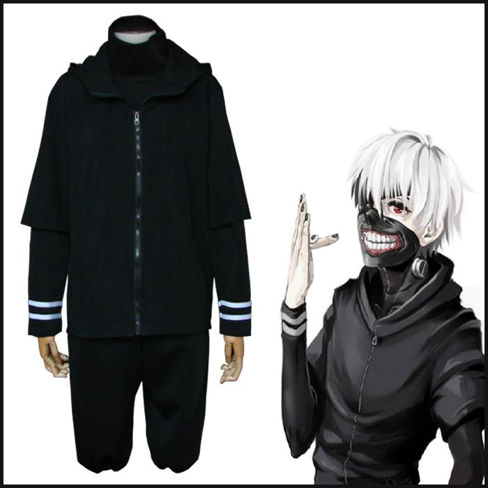 Hot Anime tokyo ghouls Men Cosplay Costume Kaneki Ken uniform 3 pieces set ACG368 - Coolcolors ACGcostume Store store