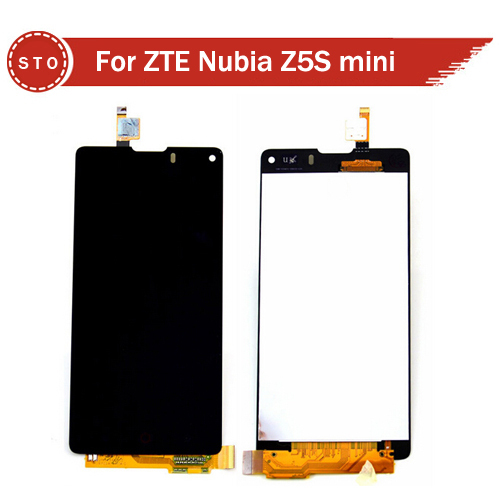 100% Original For ZTE Nubia Z5S mini LCD With Touch Screen Digitizer Assembly NX403A Black Free Shipping