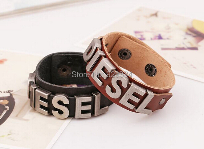Fashion cool genuine leather cuff bracelet men bracelets bangles jewelry Christmas gifts - First-Rate Jewelry store