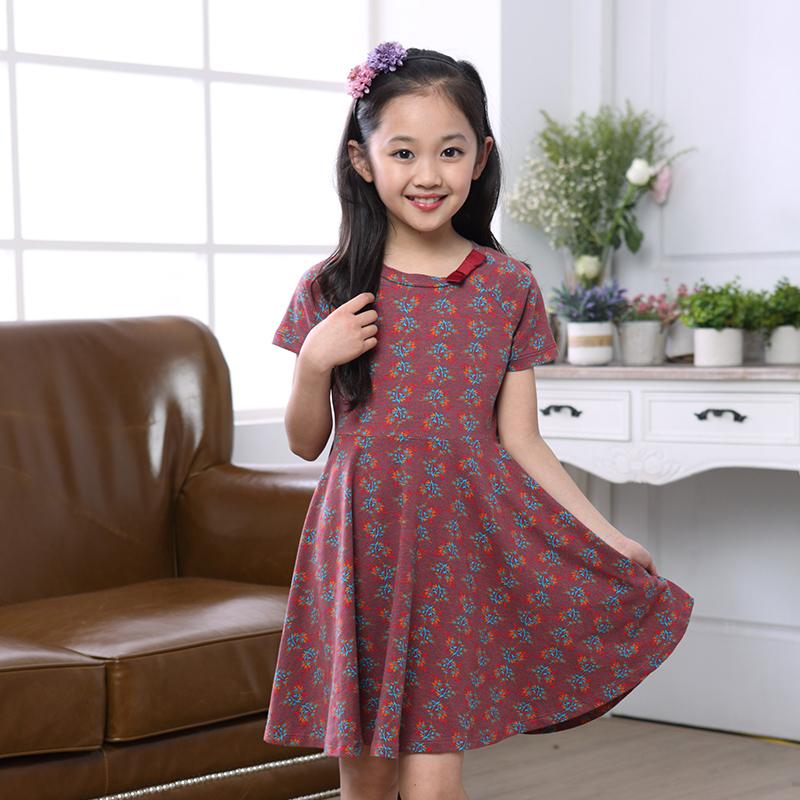 Korean 2015 New Style Sweet Kid Girl Clothing Girl Frock