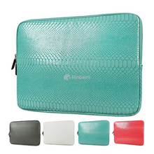 Waterproof Laptop Zipped Sleeve Case Bag – Premium Snake Print PU Leather Carrying Case Bag Cover for MacBook 10 Inch