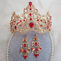 New bride jewelry wholesale wedding dress accessories retro Baroque crown baroque crystal hairband Luxury bridal jewelry