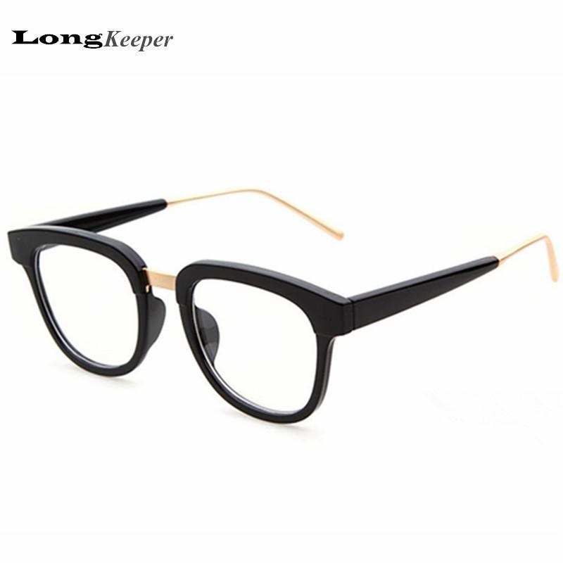 New Style Men And Women Fashion Vintage Eyeglasses Frame Optics Clear Lens Reading Glasses Retro