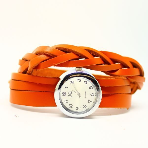 Sale Unisex Fashion watch Genuine Cow Leather bracelet Korea Quartz Wrist Watch women men KOW003 - BBQ'S Jewelry Co.,LTD store