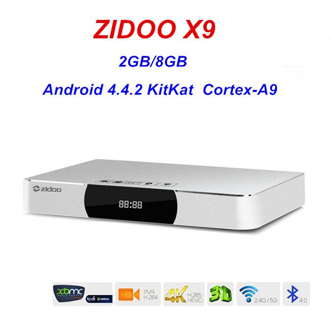 ZIDOO X9 Allwinner H3 Quad Core Android TV Box 2G/8G H.265/HEVC 4K Output 802.11b/g/n 2.4GHz WiFi LAN Bluetooth OTA<br><br>Aliexpress