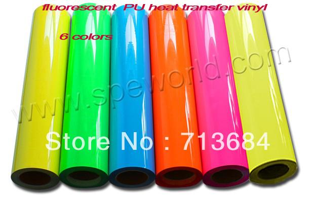 South Korea Fluorescent PU Heat Transfer Vinyl(China (Mainland))