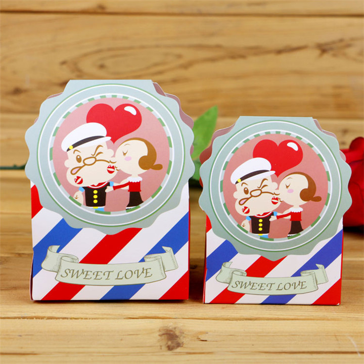 50pcs cute Sweet baby shower candy box wedding favor birthday party decorations kids wedding favor and gifts(China (Mainland))
