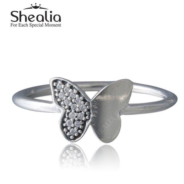 2016 весенняя коллекция AAA CZ алмазная вымощают бабочка кольца для женщин твердые стерлингового серебра 925 насекомых кольца ну вечеринку ювелирных украшений