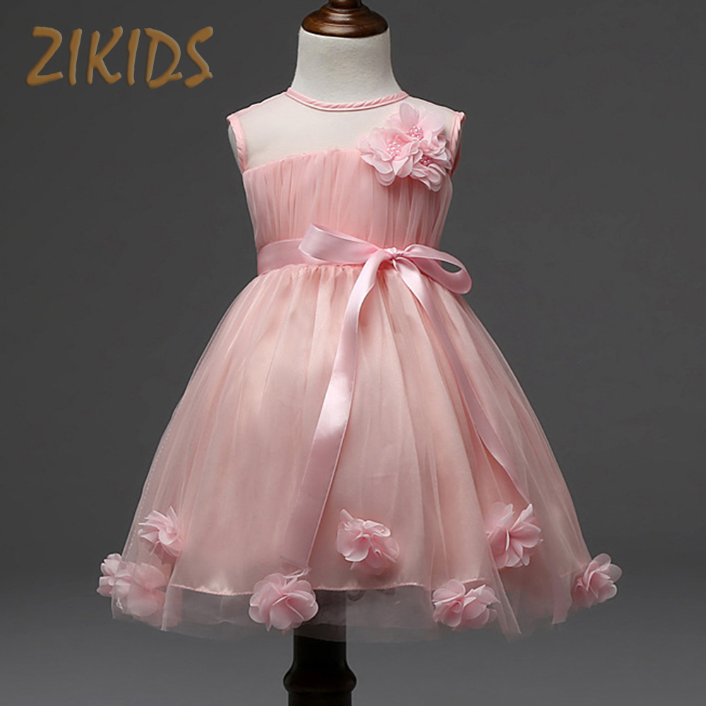 Kids dresses girls summer style flowers dress wedding for Summer dresses for wedding party