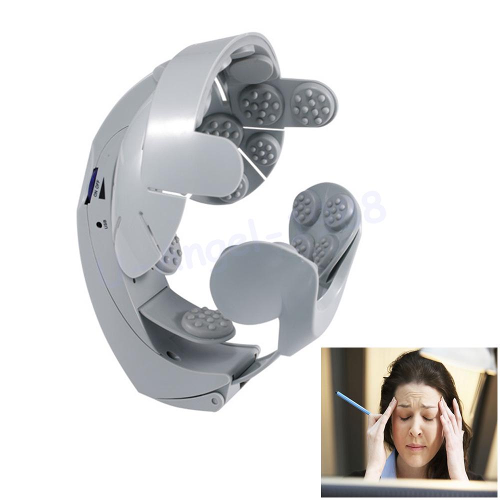 1pcs Head Vibration Massage Easy-brain Massager Electric Head Massage & Relax Brain Acupuncture Points Stress Release Machine