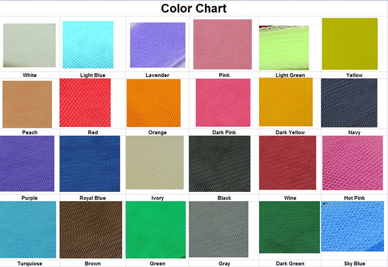 Crinoline COLOR CHART