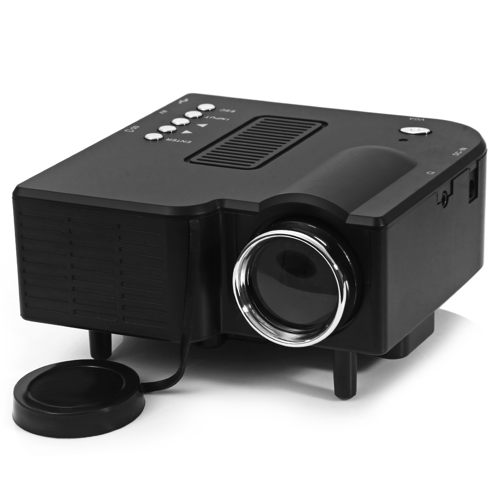 UC-40 Home Mini LED Projector Two Colors High Definition 400 Lumens 24W Support AV/SD/VGA/HDMI for Games/TV/Home Theater(China (Mainland))