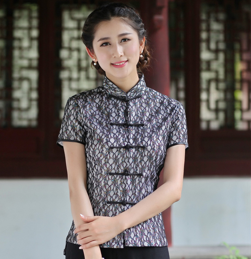 aea6155630dfb Online Buy Wholesale mandarin collar blouse from China ... Handwoven Cotton  Asian Style Shirt Half ...