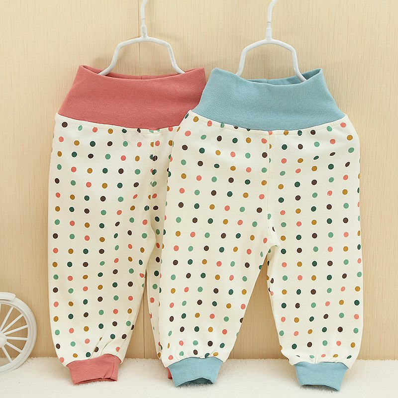2015 Autumn Winter Children Clothing Dot Polka Baby Babi Kids Boys Girls Infant Keep Warm High Waist  Long Pants MT250<br><br>Aliexpress