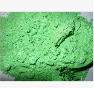500g/bag Wholesale Multicolour Pearl Powder Pigment Green Apple green Mica powder pearlescent pigment For Paint&Printing.(China (Mainland))