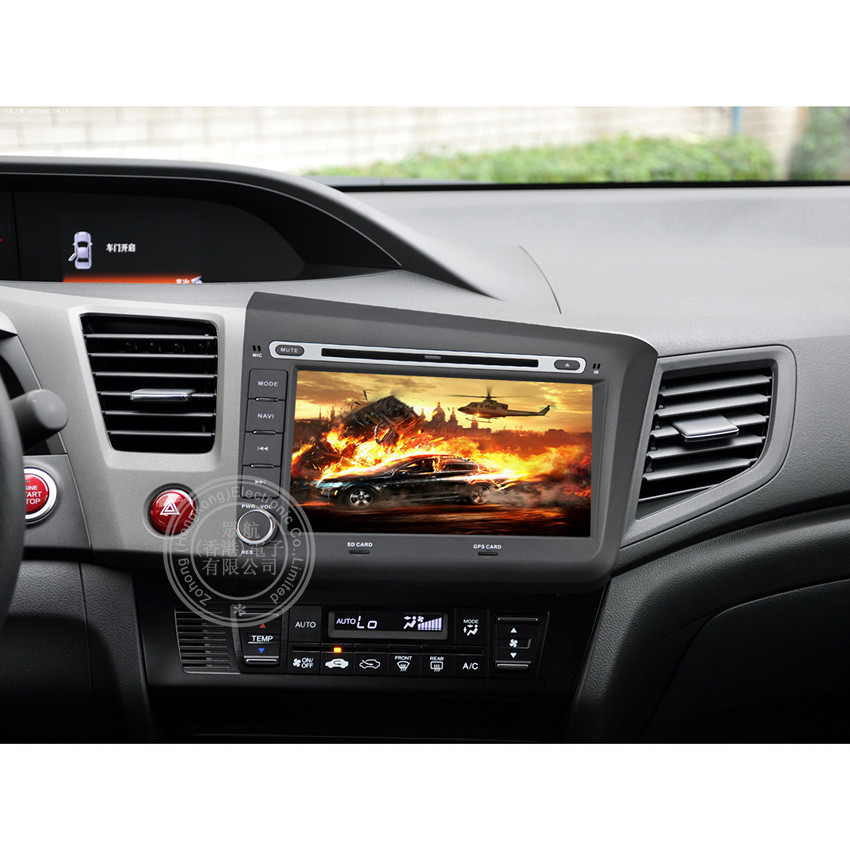 8 inch Android 4.4 car dvd player For Honda CIVIC 2012 2013 car radio with BT CANBUS Bluetooth car DVD GPS CD Player(China (Mainland))