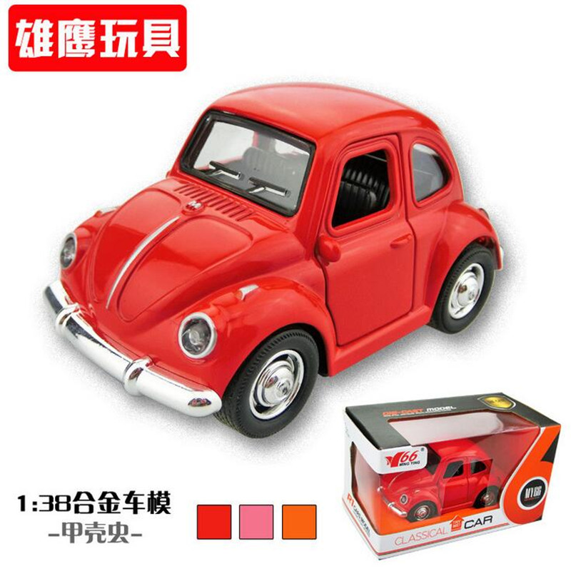 Brand New Classic model Volkswagen Vw Classic Beetle Bug Vintage 1/32 Scale Diecast Metal Pull Back Car Model Toy For Kids142(China (Mainland))