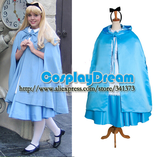 Hot Sale! Alice's Adventures Wonderland Alice maid dress Cosplay Costume cape Custom made Halloween carnival cosplay costume - CosplayDream Store store