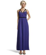 vestido de festa 2015 Ladies popular dress a line bluestone silk chiffon evening dresses evening gown(China (Mainland))