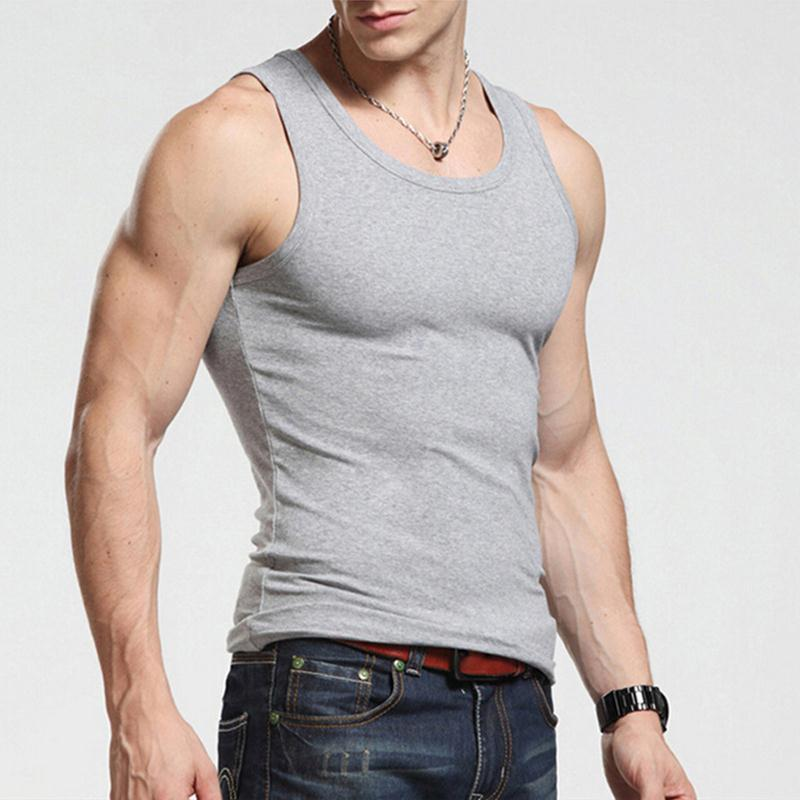 Fitness Spring 2015 Cotton Gym Vest Tank Top Men