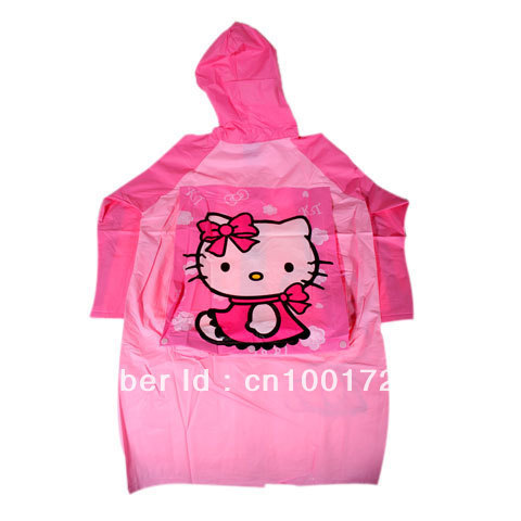 Free shipping! Durable Spring & Summer Suitable Raincoat for Children - Hello Kitty Style(China (Mainland))
