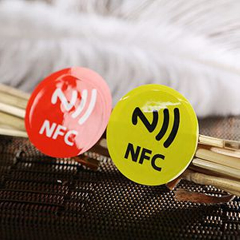 6pcs/SET PET NFC Tag Stickers Adhesive RFID Tags Label 6 DIfferent Colors Alarm Clock Control All Phones Compatible(China (Mainland))