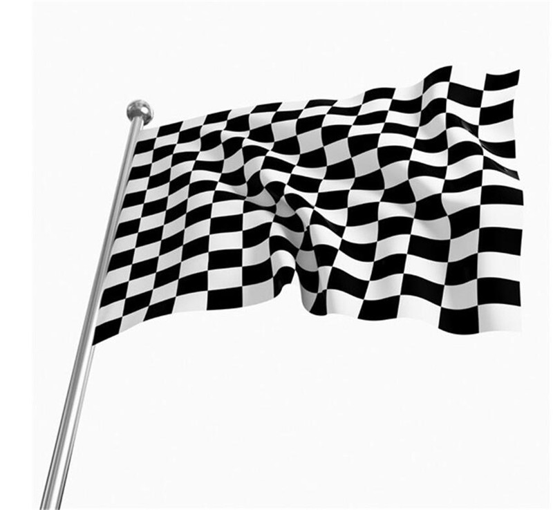 2016 High quality F1 Racing font b Chequered b font Flag Checkered Flag Banner flags and